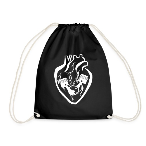 My Heart Is My Engine - Drawstring Bag