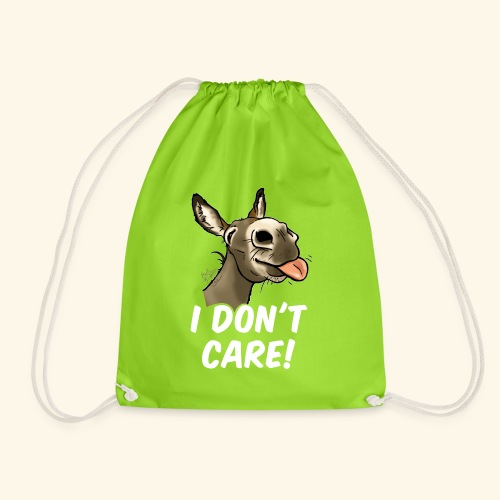 Ane I don't care! (texte blanc) - Sac de sport léger