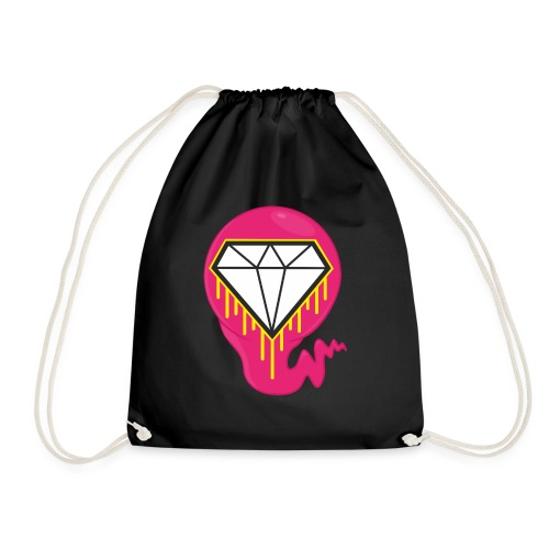 DIAMOND HEART PRINT SHIRT - Drawstring Bag