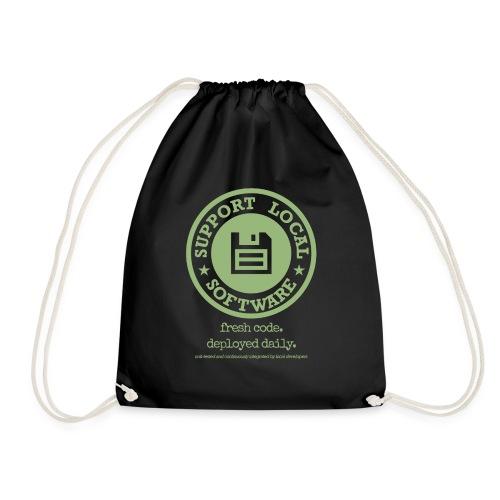 Fresh Code. Deployed Daily. - Drawstring Bag