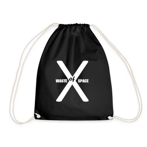 Waste of Space Logo black and white - Gymbag