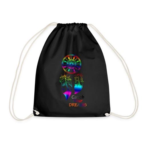 Catch Your Dreams. - Drawstring Bag