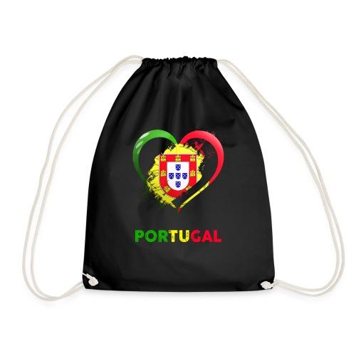 Portugal Herz als Geschenkidee - Turnbeutel