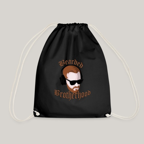 The Bearded Brotherhood w/ Text - Drawstring Bag