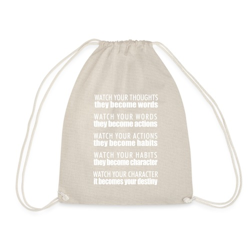 watch your thoughts - Drawstring Bag