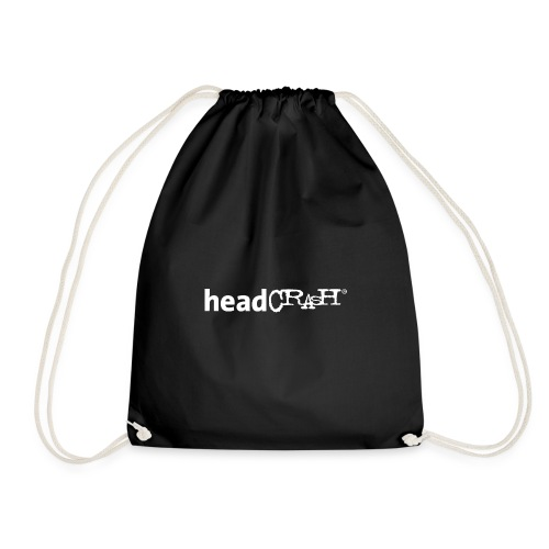 headCRASH Logo white - Turnbeutel