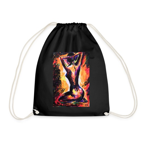 Original Art: A ladies passion - Drawstring Bag