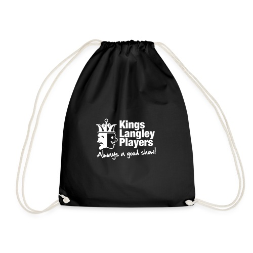 KLP White Shirt Logo - Drawstring Bag