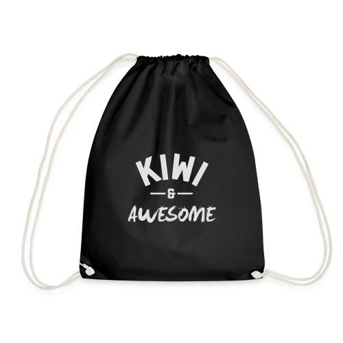 Kiwi and Awesome - Drawstring Bag