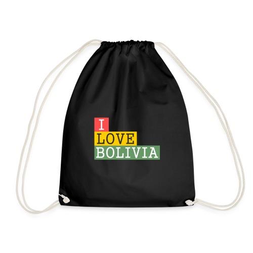 I Love Bolivia Tricolour - Mochila saco