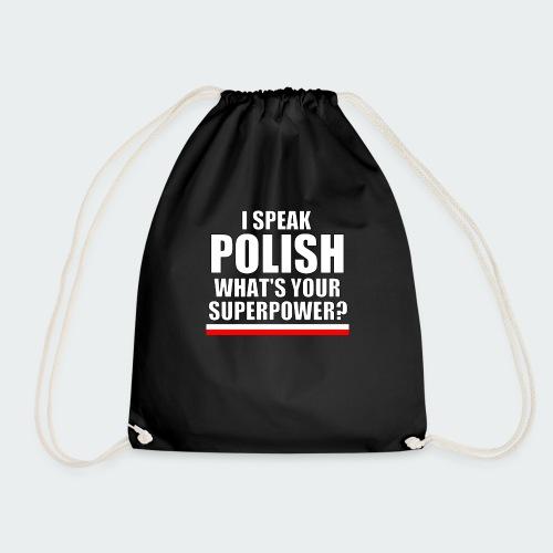 Damska Koszulka Premium I SPEAK POLISH - Worek gimnastyczny