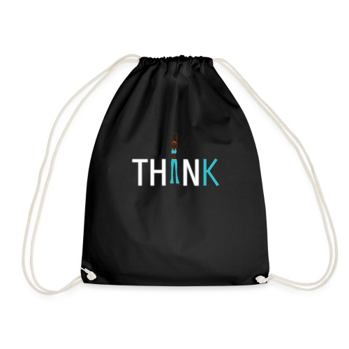 Slim, fit and thin, think being thin and healthy - Drawstring Bag