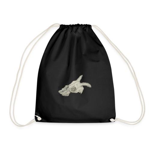 Animal skull drawing realistic design - Drawstring Bag