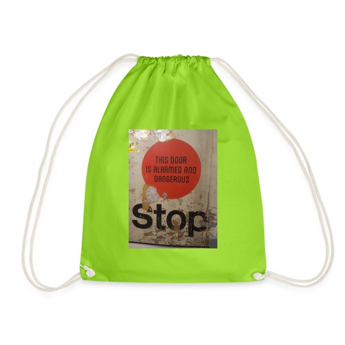 stop - Drawstring Bag
