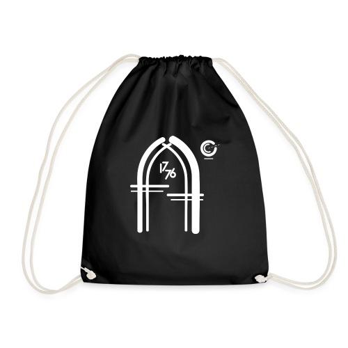 logo final ff white png - Drawstring Bag