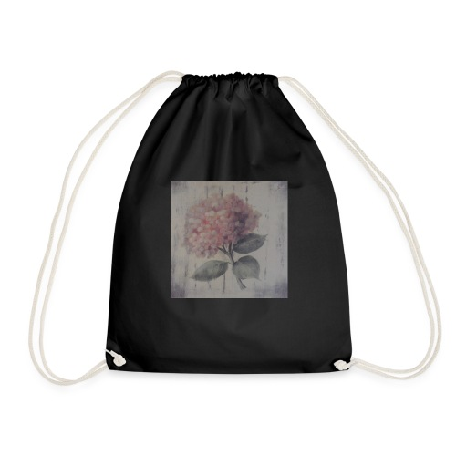 Pink Flower Boquet - Drawstring Bag