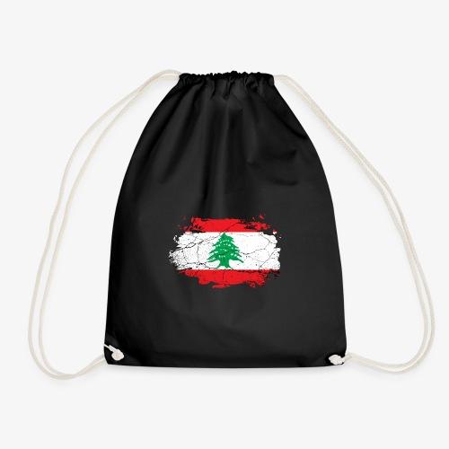 Libanon Libanesische Flagge - Turnbeutel