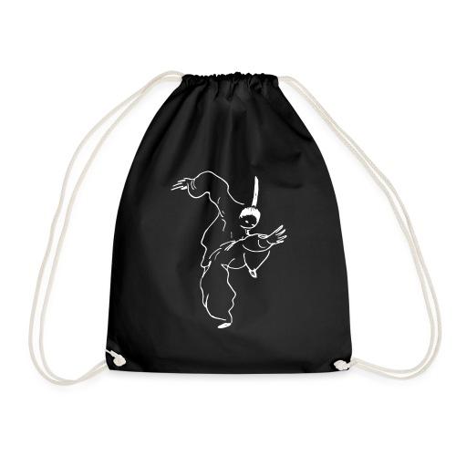 Kung Fu fighter / white - Drawstring Bag