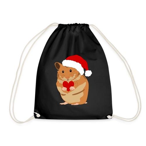 Weihnachtshamster Weihnachten Hamster Geschenk - Turnbeutel
