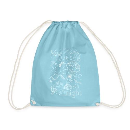 Up at Night lil smaller - Drawstring Bag