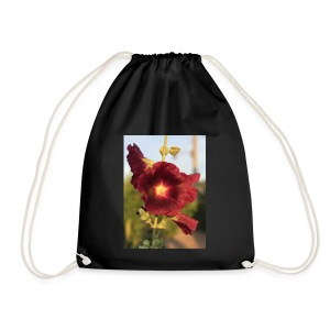 Red Hollyhock - Drawstring Bag
