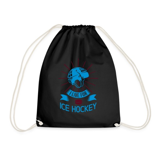 I Love For Ice Hockey - Drawstring Bag
