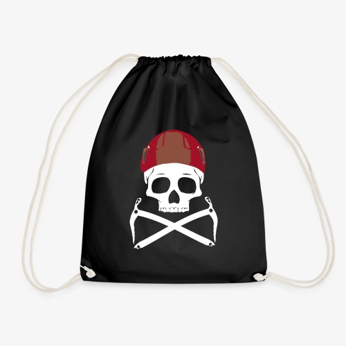 Climber Pirats skull white - Drawstring Bag