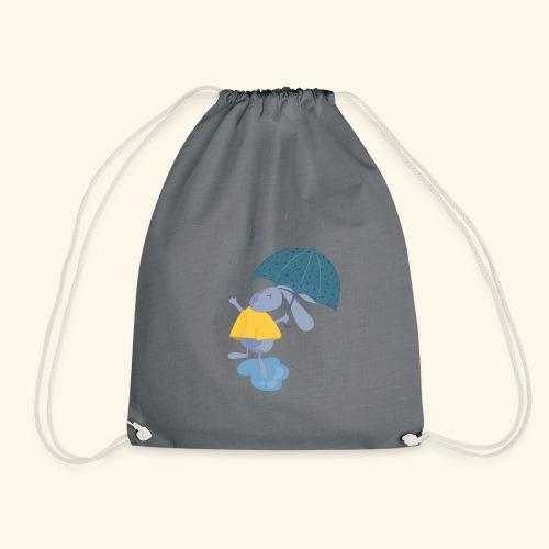 happy in the rain - Drawstring Bag