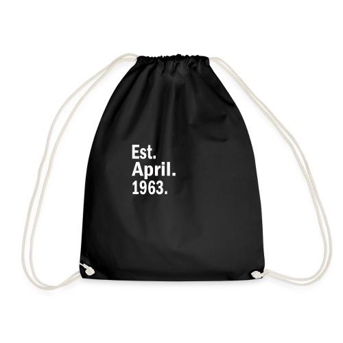 Est April 1963 - Drawstring Bag