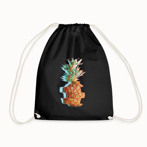 Pineapple Glitch - Drawstring Bag