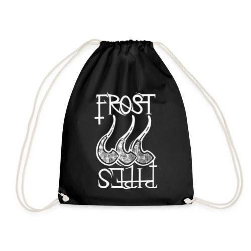 Frost Pipes Logo White - Drawstring Bag
