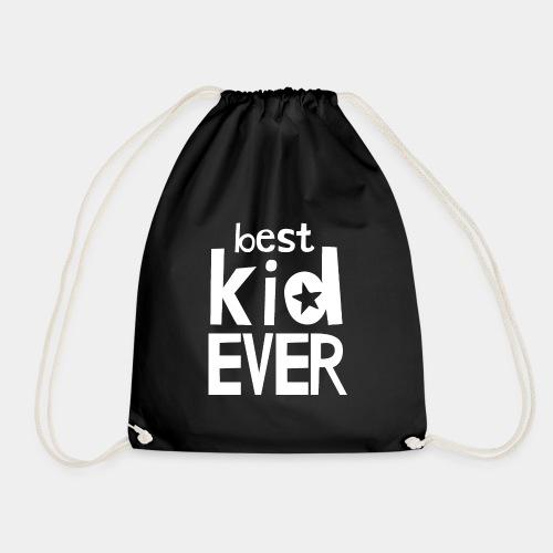 Best Kid Ever - White - Drawstring Bag