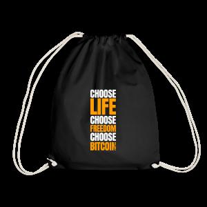 Logo choose bitcoin white - Sac de sport léger