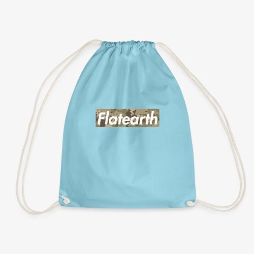 Flat Earth camouflage - Drawstring Bag