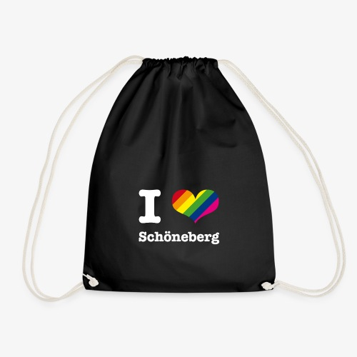I love Schöneberg Rainbow - Turnbeutel