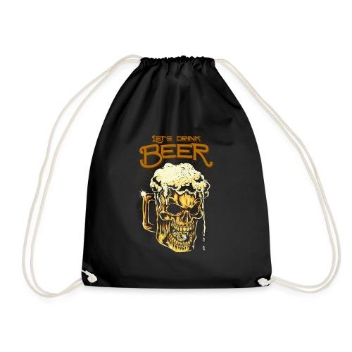 Lets Drink Beer - Drawstring Bag