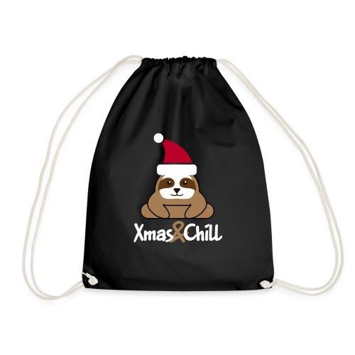 Faultier Weihnachten süß lustig Geschenk - Turnbeutel