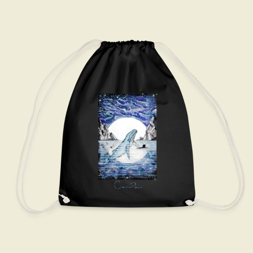 humpback whale - Drawstring Bag