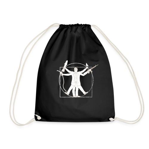 Vitruvian Trump: Anti-Trump design - Drawstring Bag