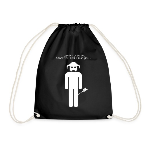 I used to be an adventurer like you... - Drawstring Bag