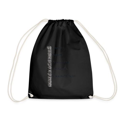 5 Tenets Taekwondo Kid's Hoodie 2 - Drawstring Bag