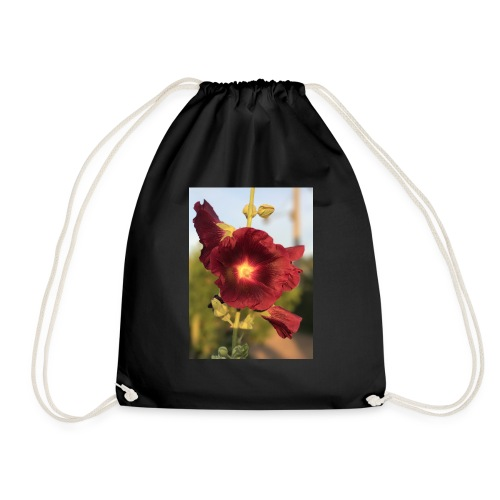 Red Hollyhock - Drawstring Bag