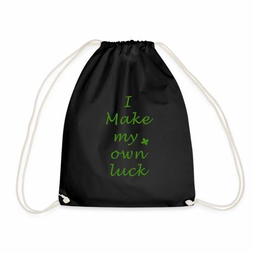 i make my luck swag design green white - Sac de sport léger