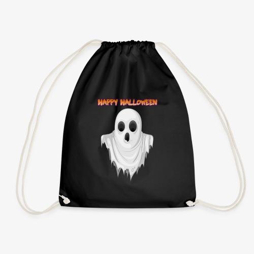HAPPY HALLOWEEN GHOST DESIGN - Drawstring Bag