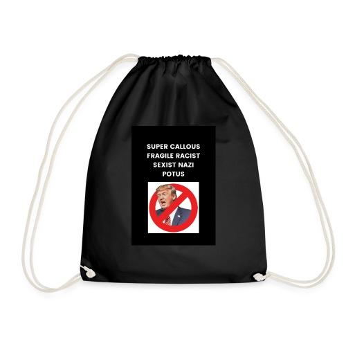 Poppins against Trump - Drawstring Bag