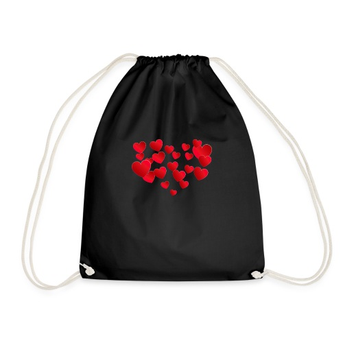 Heart T-Shirt - Drawstring Bag