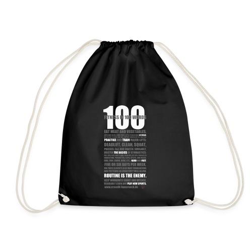 100 WORDS DARK SHIRT - Turnbeutel