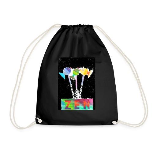 zen fish - Drawstring Bag