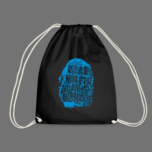 Fingerprint DNA (blue) - Drawstring Bag