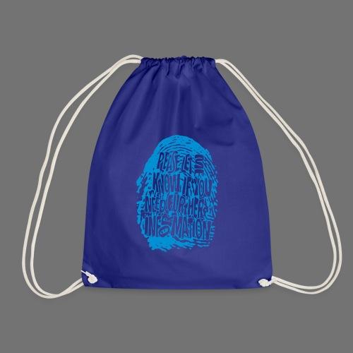 Fingerprint DNA (blue) - Drawstring Bag